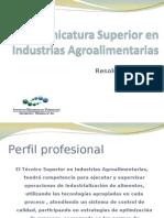 Tecnicatura Superior en as Agroalimentarias