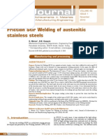 Friction Stir Welding of Austenitic Stainless Steel