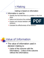 Value of Information in DM