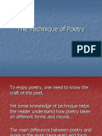The Technique of Poetry