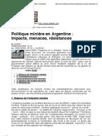 Politique minière en Argentine