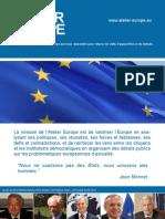 Brochure Atelier-Europe 2012