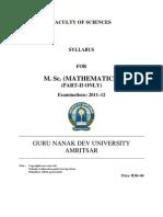m.sc. Math Part-II Only