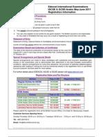 Reg Form Edexcel Igcse-gcse June 2011
