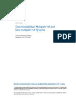 Data Availability of Multipath HA And