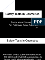 Safety Test in Cosmetics