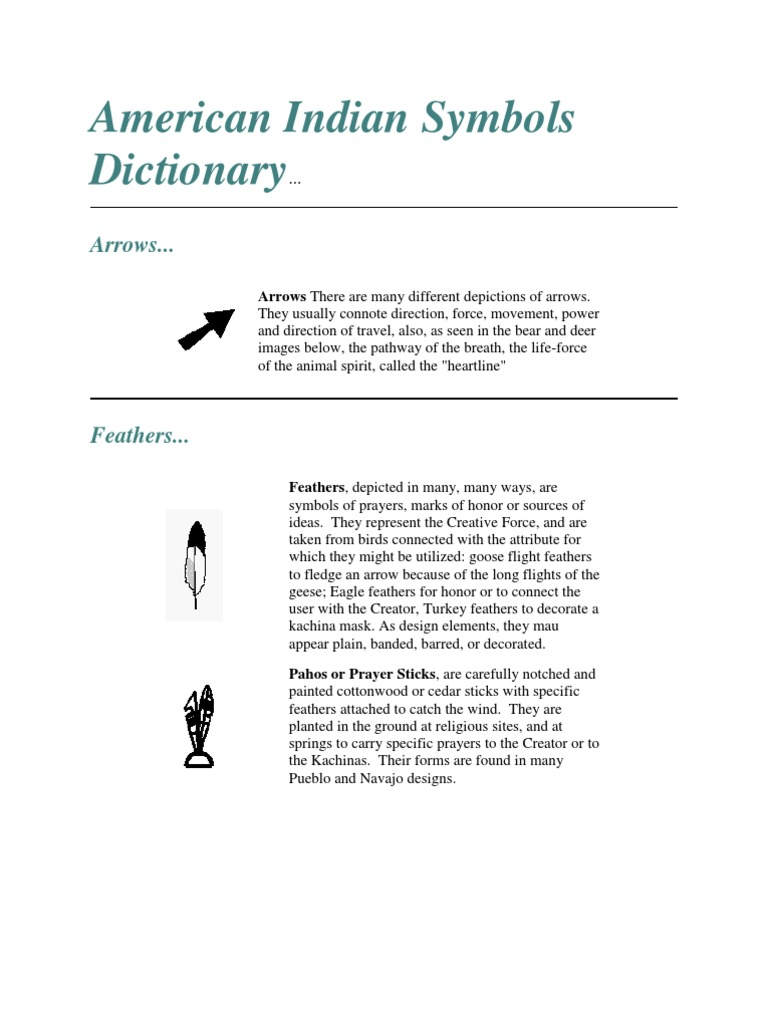 American Indian Symbols Dictionary Nature
