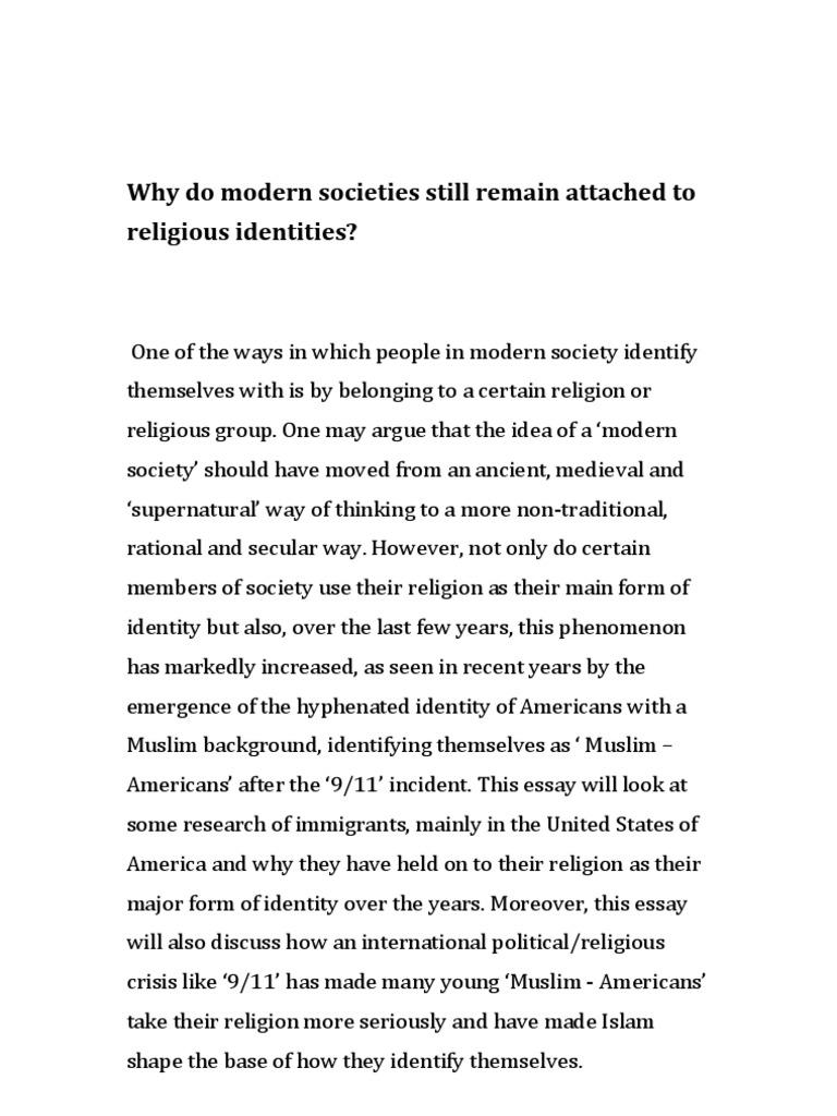 essay religious identity modernity religious identity