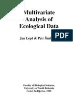 Multivariate Analysis of Ecological Data--Jan Leps
