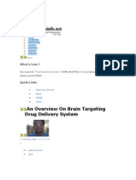 Nanotechnology in Brain Targeting