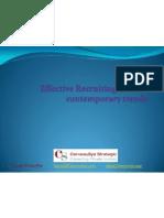 Effective Recruiting