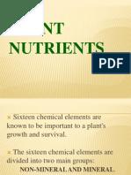 Plant Nutrients, Report q..