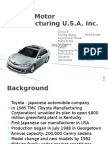 Toyota Motor Manufacturing OM Group 8
