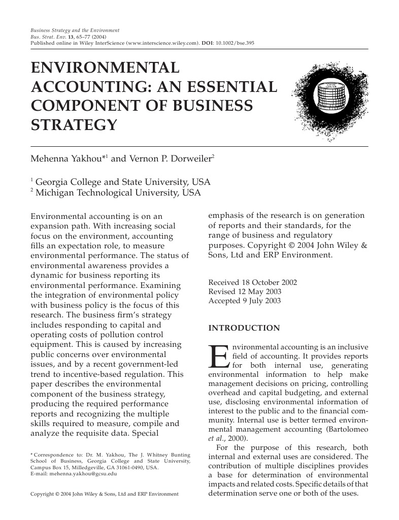 objectives of environmental accounting