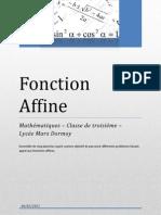 Fonction Affine - 5 planches
