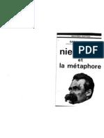 Nietzsche et la metahore, par Sarah Kofman