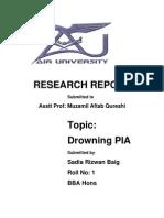 Pia Report by Sadia Sir Muzamil
