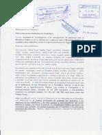 Solicitud de investigación y de envío al Ministerio Publico caso de la CCSS