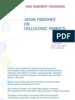 Resin Finishes on Cellulosic Fabrics