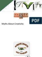 Myths About Creativity
