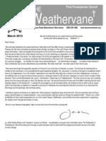 March Weathervane 2012