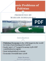 Economic Problems of Pakistan
