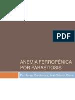 Anemia ferropénica por parasitosis