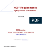 F1000 Records Requirements