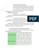 Estructura Económica de Venezuela
