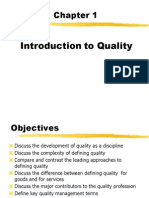 Chapter 1 - Introduction to Quality