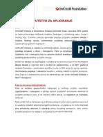 UniCredit Foundation Uputstvo Za Apliciranje 2012 03