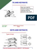Keys and Keyways