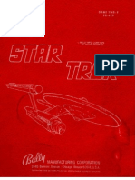 Bally 1979 Star Trek Manual