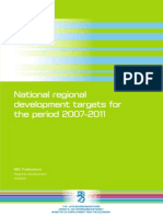 National regional development targets for the period 2007-2011