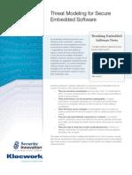 Klocwork -Paper - Threat Modeling for Embedded Software