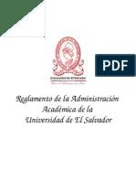 Reglamento de La Administración Academica