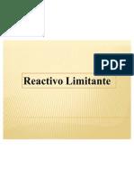 REACTIVO LIMITANTE