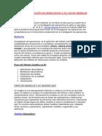 LA INVESTIGACIÓN DE OPERACIONES Y EL USO DE MODELOS