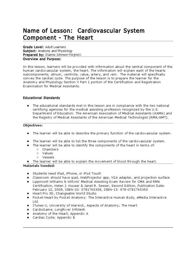 Tech Trends Lesson Plan: Mobile Medical Apps | Heart | Circulatory ...