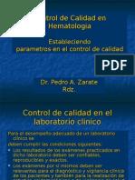 Control de Calidad en Hematologia Fase Analitica(2)