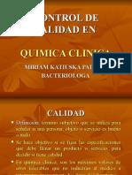Control de Calidad en Quimica clinica