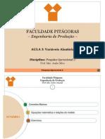 3ª_Aula_PO2 - Variáveis Aleatórias