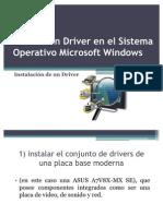 Instalar Un Driver en El Sistema Operativo Microsoft