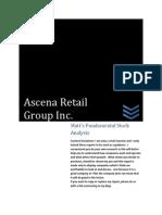 ASNA Stock Analysis