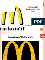 Mcdonalds Corporation Case Study