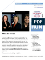 790:335 Summer I 2012 Women and American Politics Info