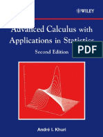Advanced Calculus With Applications in Statistics