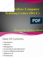 POF Welfare Computer Training Center (WCC)