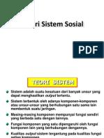 1 TEORI SISTEM SOSIAL