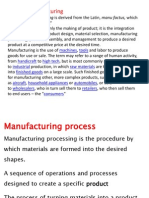 1)Manufacturing and Casting Process